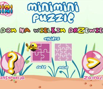 puzzle Dom na wielkim drzewie, mini mini