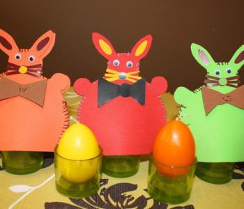 Zajączkowe czapeczki na jajka z filcu