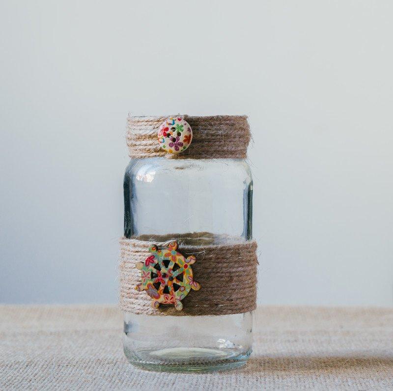 dekoracyjny pojemnik na skarby ze słoika, jak zrobić