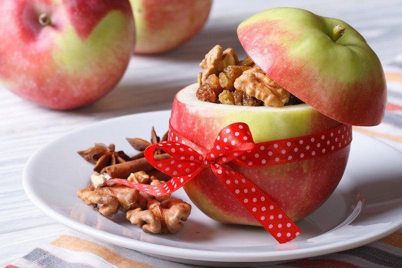 przepis na faszerowane jabłko