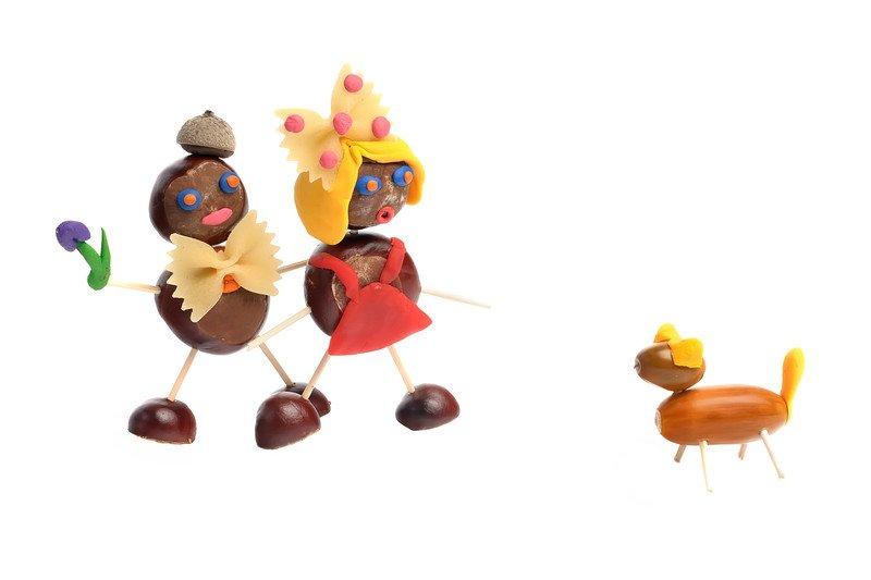 Kasztaniaki jak zrobić ludziki z kasztanów, wierszyk na jesień