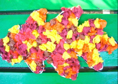 Jesienny kolorowy liść - zabawa plastyczna dla dzieci