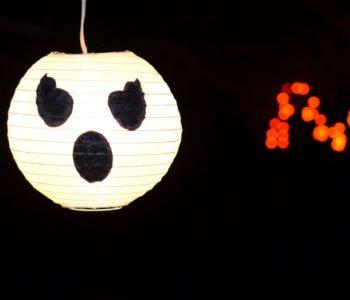 Straszny duch – duży lampion na Halloween