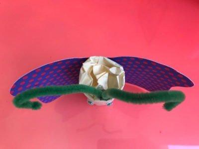 motylek z tubki po papierze