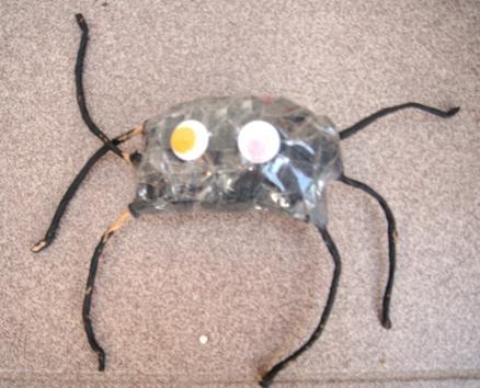 pająk - zabawa plastyczna dla dzieci