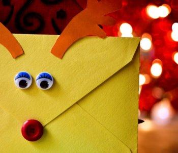 Koperta na prezent lub kartkę świąteczną
