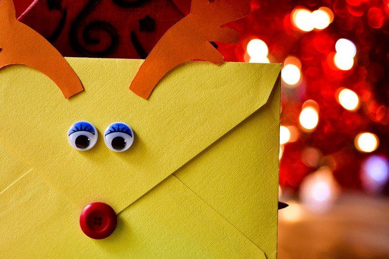 świąteczna koperta na prezent lub kartkę