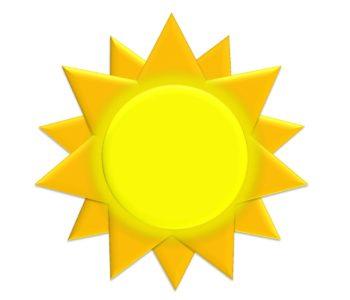 Słońce z masy papierowej