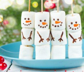 Bałwanki z pianek marshmallow