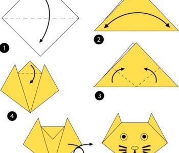 Proste origami – kotek