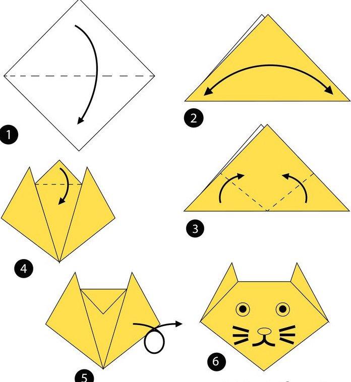 origami kotek