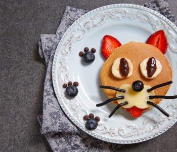 Przepis na racuszki, mini naleśniki z kotkiem