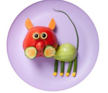 przepis na kotka z ogórka i pomidora