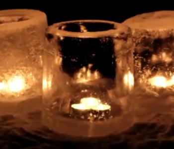 Lodowe świeczniki