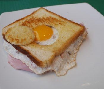 Jajko sadzone na toście