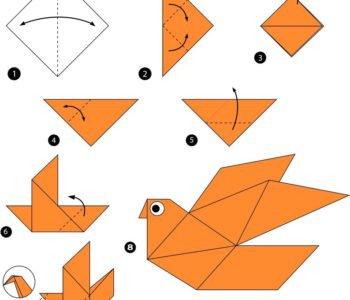 Geometryczny ptak – origami