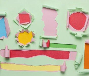 Wydzieranka z kolorowego papieru
