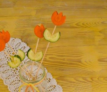 Warzywne kwiatki dla mamy lub babci
