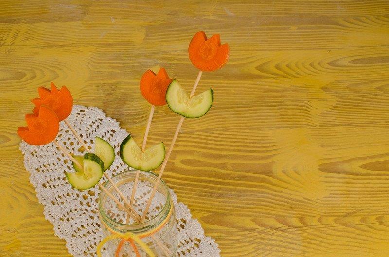 warzywne kwiatki zabawa