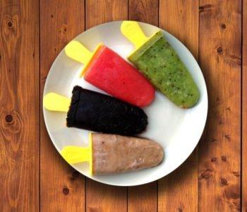 Zdrowe lody owocowe na patyku
