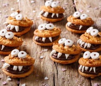 Przepis na łatwe straszne ciasteczka z zębami