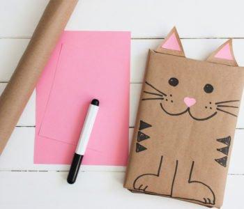 Kotek z papieru – zapakuj prezent pod choinkę
