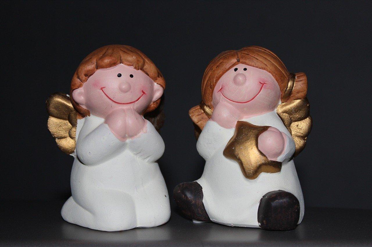 anioły figurki święta