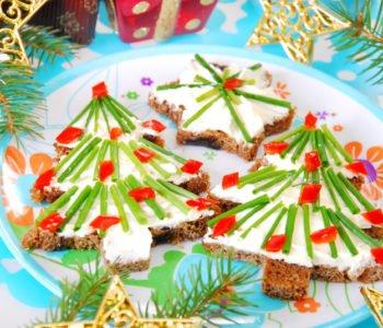 Dekoracyjne zimowe kanapeczki na Święta