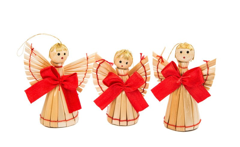 aniołki ze słomy zabawy świąteczne dla dzieci