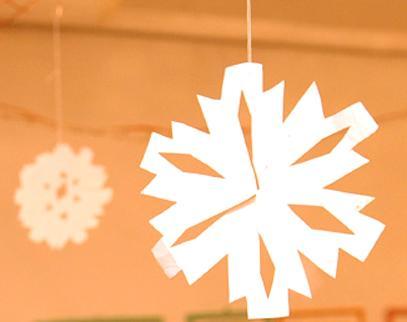 śnieżynka z papieru gwiazdka na choinkę