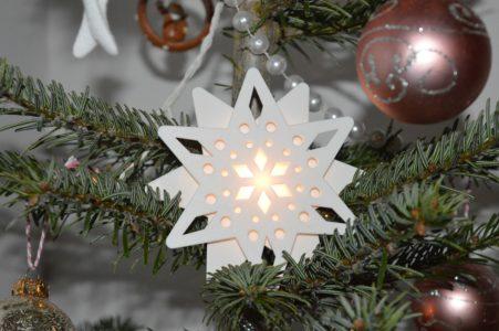 śnieżynka ozdoba dekoracja święta choinka boże narodzenie