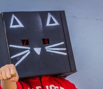 Karnawałowa maska z pudełka – kotek