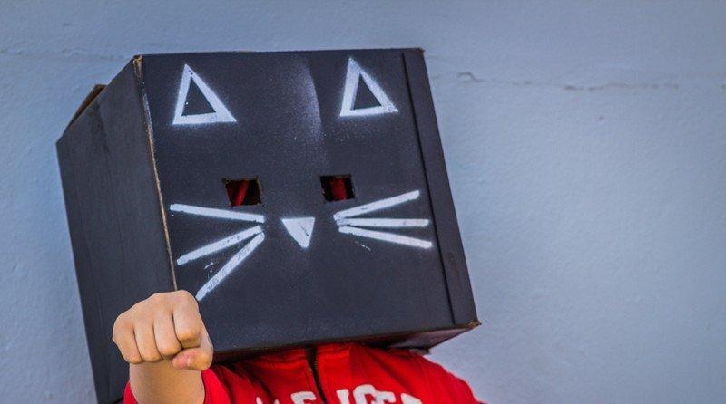 zabawa maska kotek