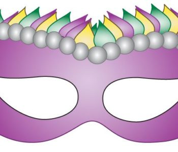Klasyczna karnawałowa maska do wydruku