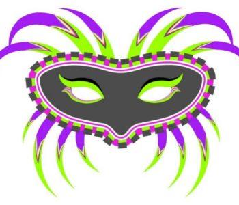 Karnawałowa maska wenecka do wydruku