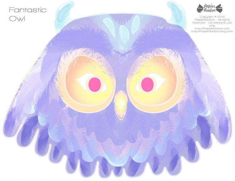 karnawałowa maska sowa