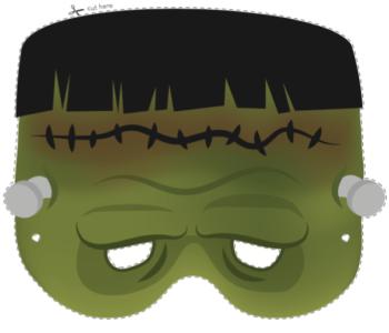 Maska dla dzieci do wydruku – Frankenstein