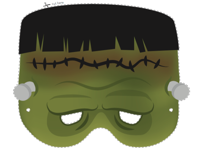Maska do wydruku Frankenstein