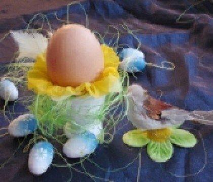 Wielkanocna ozdoba z ptaszkiem