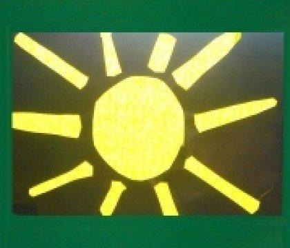 Witraż słoneczko