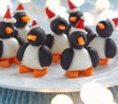 Jak zrobić pingwiny z mozzarelli i oliwek zabawne przepisy dla dzieci