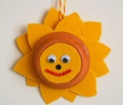 Słonecznik w oknie
