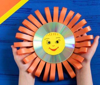 Uśmiechnięte słoneczko z płyty CD lub DVD
