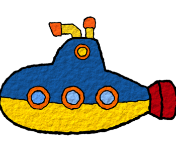 łódź podwodna - dziecięcy rysunek