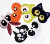 Straszne maski dla dzieci na Halloween do druku