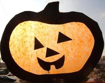 Halloween! Witraż – dynia