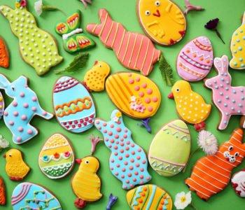 Przepis na kolorowe pierniczki na Wielkanoc