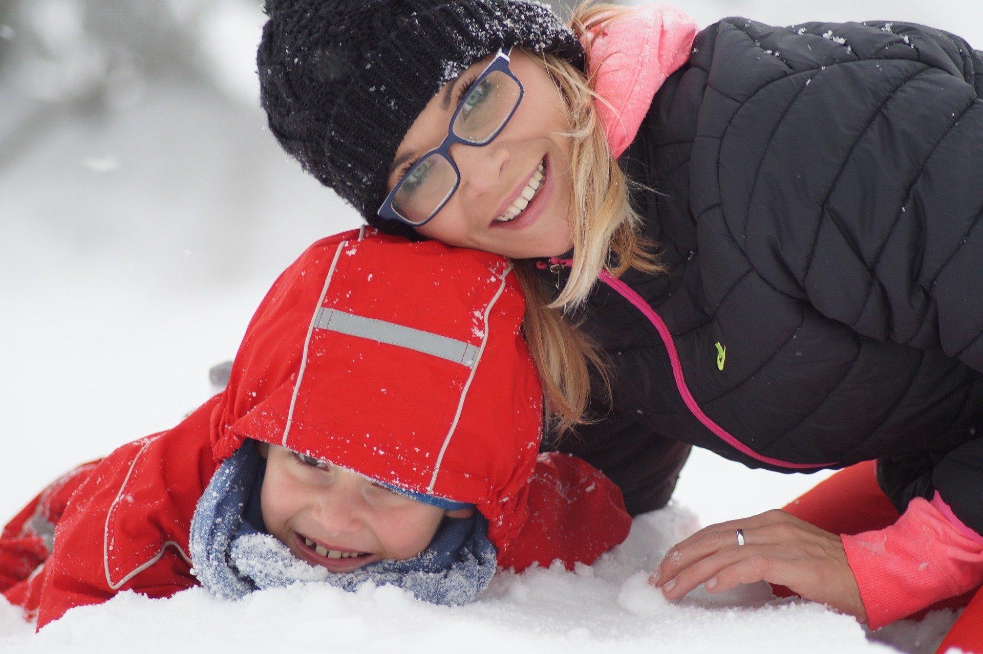 Nauka jazdy na nartach dziecko