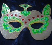 Maska-na-bal-błyszczący-kot