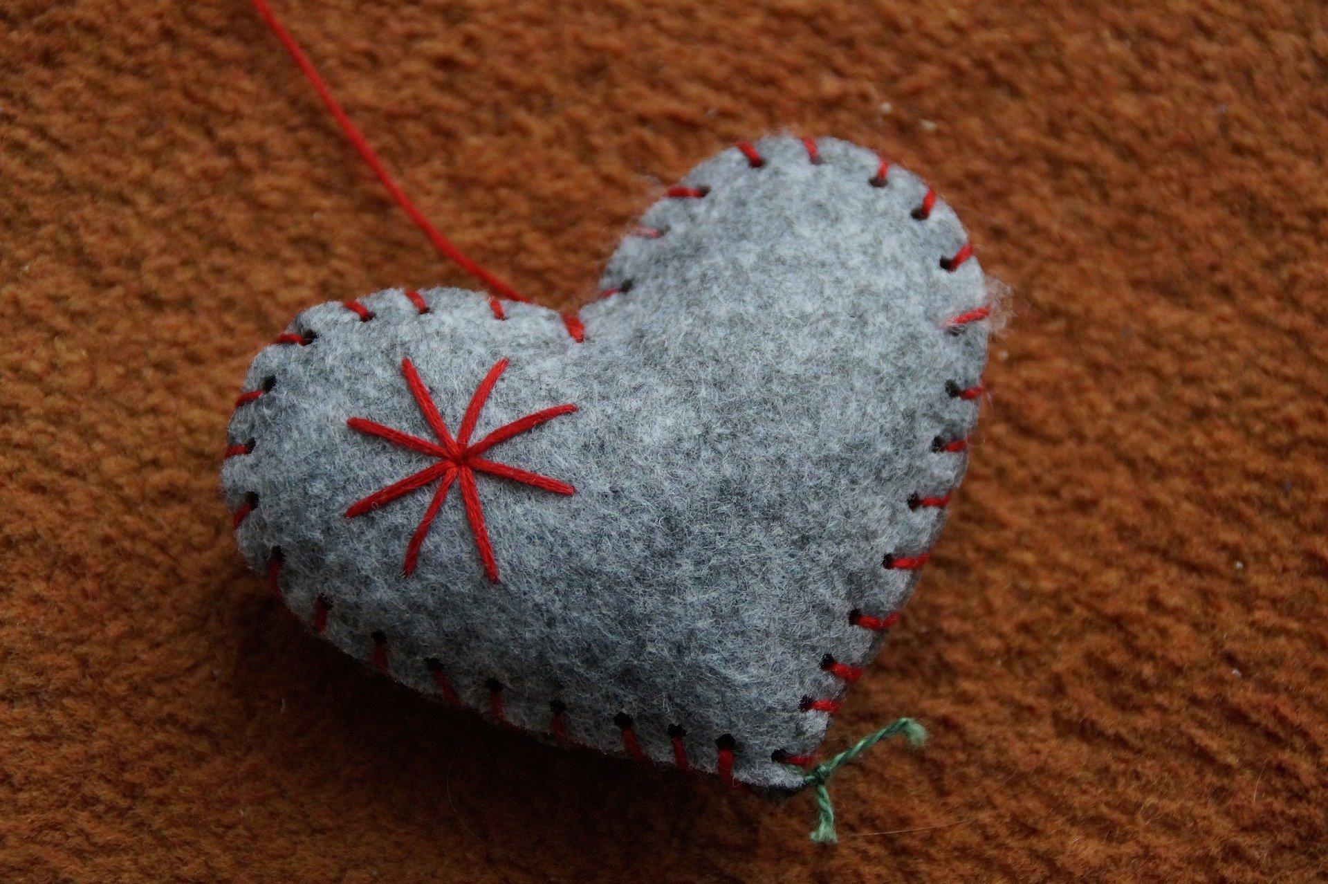 serce z filcu